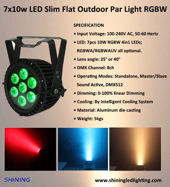 The Use Of Led Par Can Light In Prosound And Stage Lighting